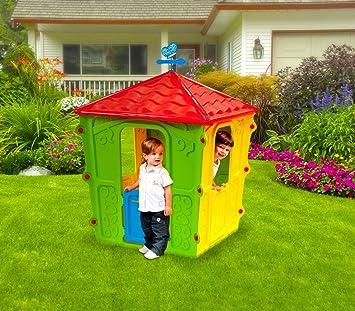 102138 Caseta para jugar COUNTRY PLAY HOUSE de interior y exterior 152x108x108cm: Amazon.es: Juguetes y juegos