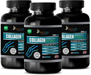 Joint Supplement with Collagen - Collagen HYDROLIZED PEPTIDES 3000MG - Collagen Supplements Capsules Made in USA - 3 Bottles 360 Capsules