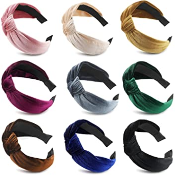 Women/'s Fashion Headband Alice Band Twisted Head Wrap Velvet Stripe Hairband Bow