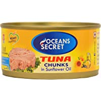 Oceans Secret - Canned Tuna in Sunflower Oil, 180g (Pack of 4)