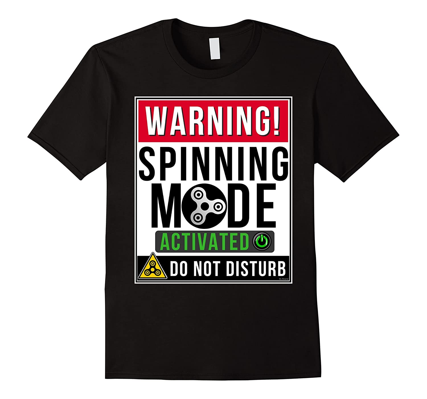 Spinning Mode Activated Funny Fidget Spinner T Shirt-Vaci