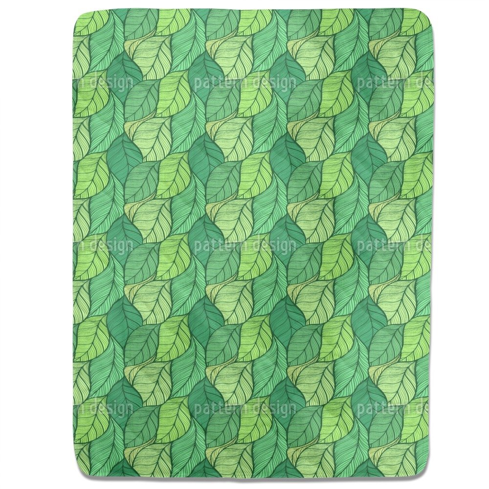 Wavy Leaves Dance Fitted Sheet: King Luxury Microfiber, Soft, Breathable