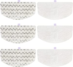 isinlive 6 Pack Microfiber Washable Steam Mop Replacement Pads for Bissell PowerFresh Steam Mop 1940 19402 19404 19408 19409 B0006 1806 1544 2075A 2181 2814 20781, Model No 5938, 1606668 & 1606669
