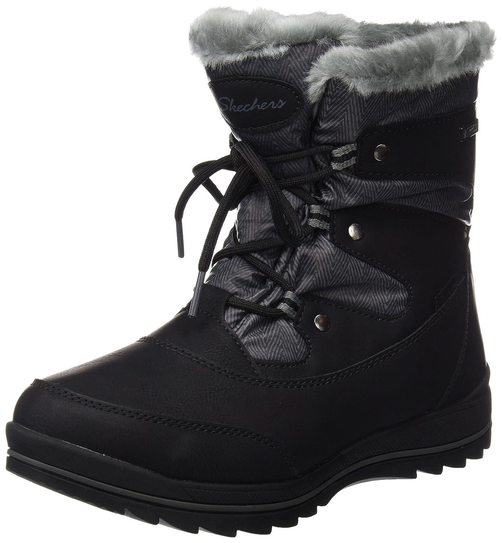 Skechers Damen Colorado Stiefel, Schwarz  37 EU|Schwarz (Black)