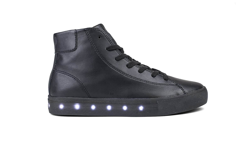 POP Girls Fairmount LED High Top Leather Sneaker