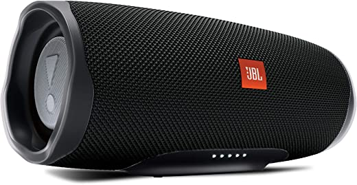 JBL Charge 4 by Harman Powerful Portable Bluetooth Speaker with Upto 20 Hours Playtime, Built-in 7500 mAh Powerbank & IPX7 Waterproof (Without Mic, Black)