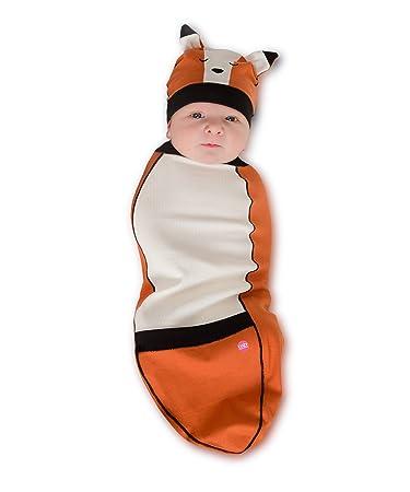 cozy cocoon baby cocoon swaddle u0026 hat fox 3 6 months sc 1 st amazoncom