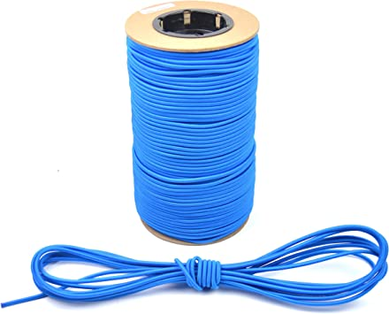 250ft 3//16 Blue Bungee Cord Marine Grade Heavy Duty Shock Rope Tie Down Stretch