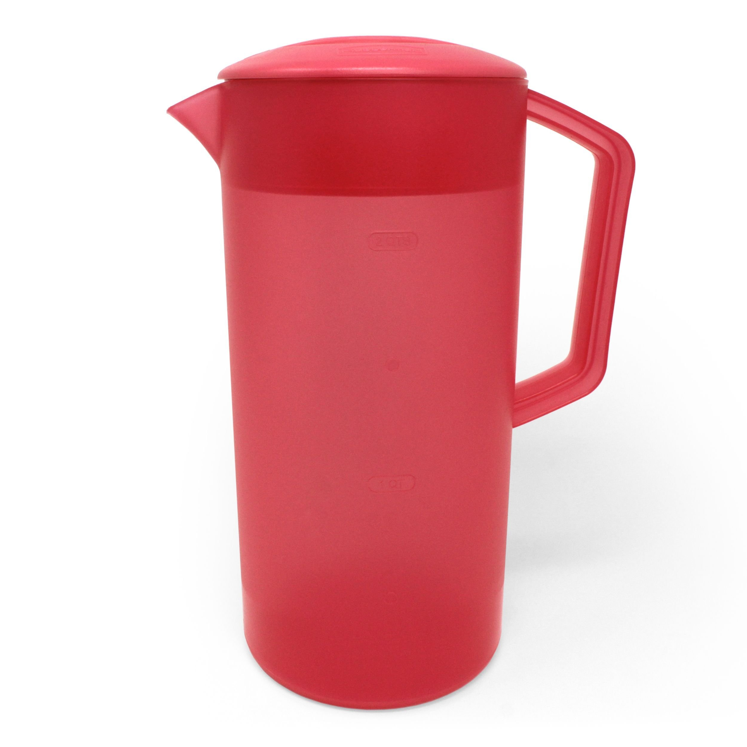 Rubbermaid Covered Pitcher 2 Quart/1.89 Liter - Coral