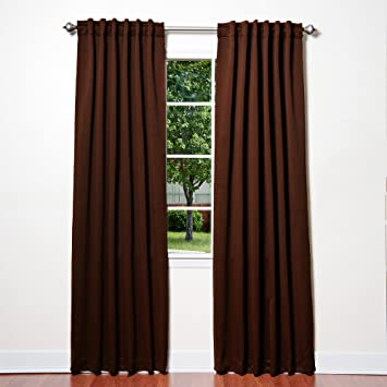 Best Home Fashion Thermal Insulated Blackout Curtains   Back Tab/ Rod  Pocket   Chocolate
