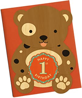 product image for Night Owl Paper Goods First Bday Doggie Wood Birthday Card