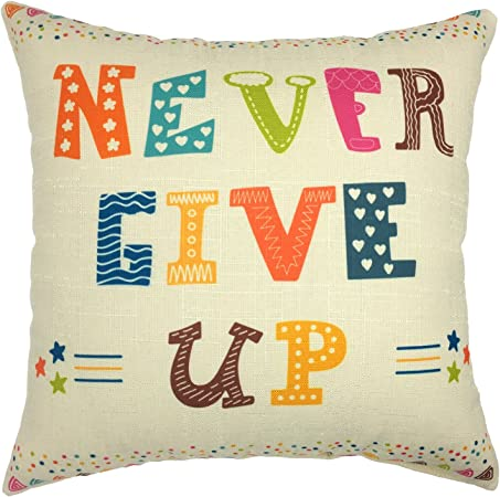 Your Smile Inspiring Quote Cotton Linen Square Decorative Throw Pillow Case Cushion Cover 18x18 Inch Home Kitchen Amazon Com