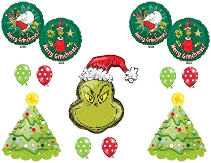 how the grinch stole christmas party balloons decorations supplies dr seuss - How The Grinch Stole Christmas Decorations