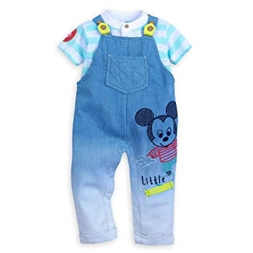 fa0752d17 Image Unavailable. Image not available for. Color: Disney Mickey Mouse  Dungaree Set for Baby ...