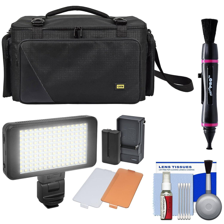 Zuma ec8188簡単バッグProシリーズカメラ/ビデオカメラケースwith LEDビデオライト+クリーニングキット   B075JMMXVT