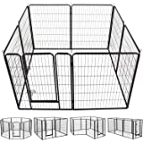 YAHEETECH Heavy Duty Foldable Metal Pet Dog Puppy Cat Exercise Fence Barrier Playpen Kennel, Outdoor & Indoor,8/16/32…