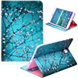 Galaxy Tab S2 9.7 2015 Green Case SM-T815/T810/T813, UUcovers PU Leather Wallet Soft TPU Back Cover with Pocket Card…