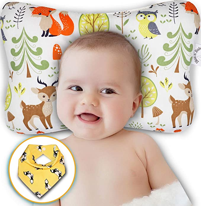Exuberanter Baby Memory Pillow Resilience Cotton Detachable Slope Shaped Shaping Newborn Pillow For Baby Anti Reflux