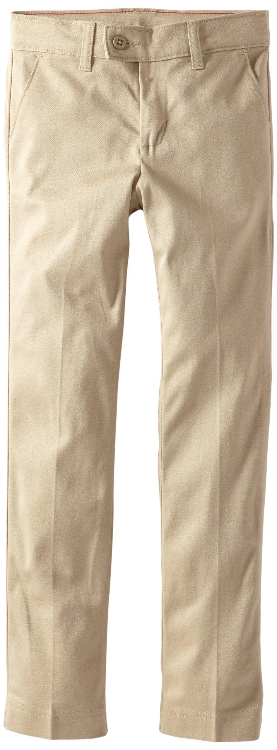 Dickies Big Girls' Stretch Slim Straight Pant, Desert Sand, 18