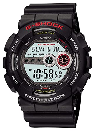 5d8301c76 Amazon.com: Casio Men's G-Shock GD-100-1A Black Digital Sport Watch ...