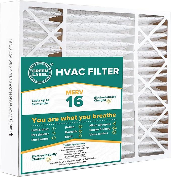 HVAC Filtro de aire 20 x 25 x 5, ca horno aire Ultra limpieza ...