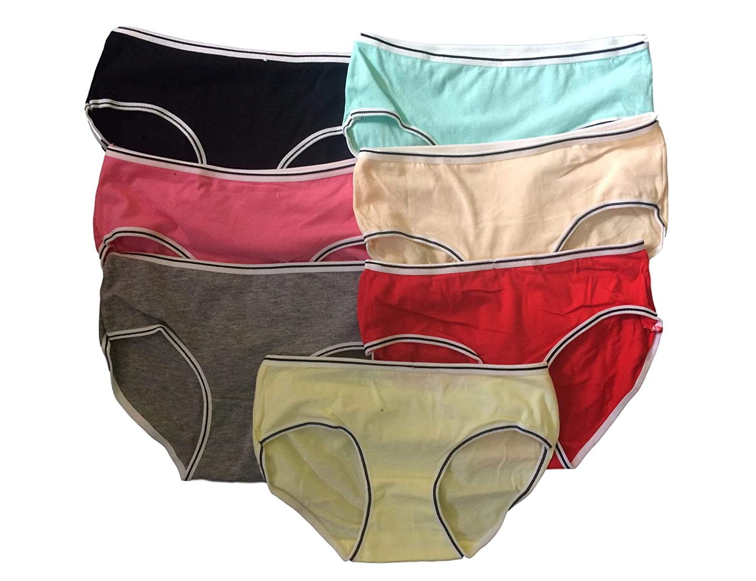 CC Teen Girls Underwear 7 Pack Briefs/Pants/Knickers