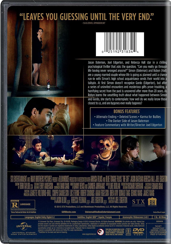 Amazon.com: The Gift (DVD): Jason Bateman, Rebecca Hall, Joel ...