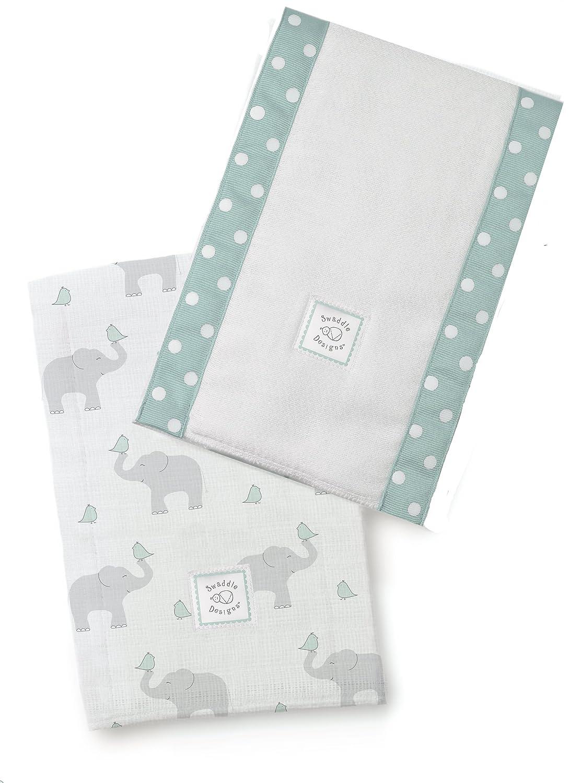 36 x 46 cm azul en colores pastel Swaddle Designs Juego de 2 papel absorbente para los reci/én nacidos la raz/ón: Elefantes//Chicks Azul