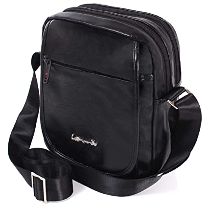 LEONARDO LEO 50520 Borsello da uomo con tracolla borsa Viaggio Sport Lavoro in Pelle pu
