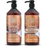 Dead Sea Collection Mineral Shampoo & Conditioner with Coconut Oil Moisturizes and Strengthens Pack of 2 (33.8 fl.oz…