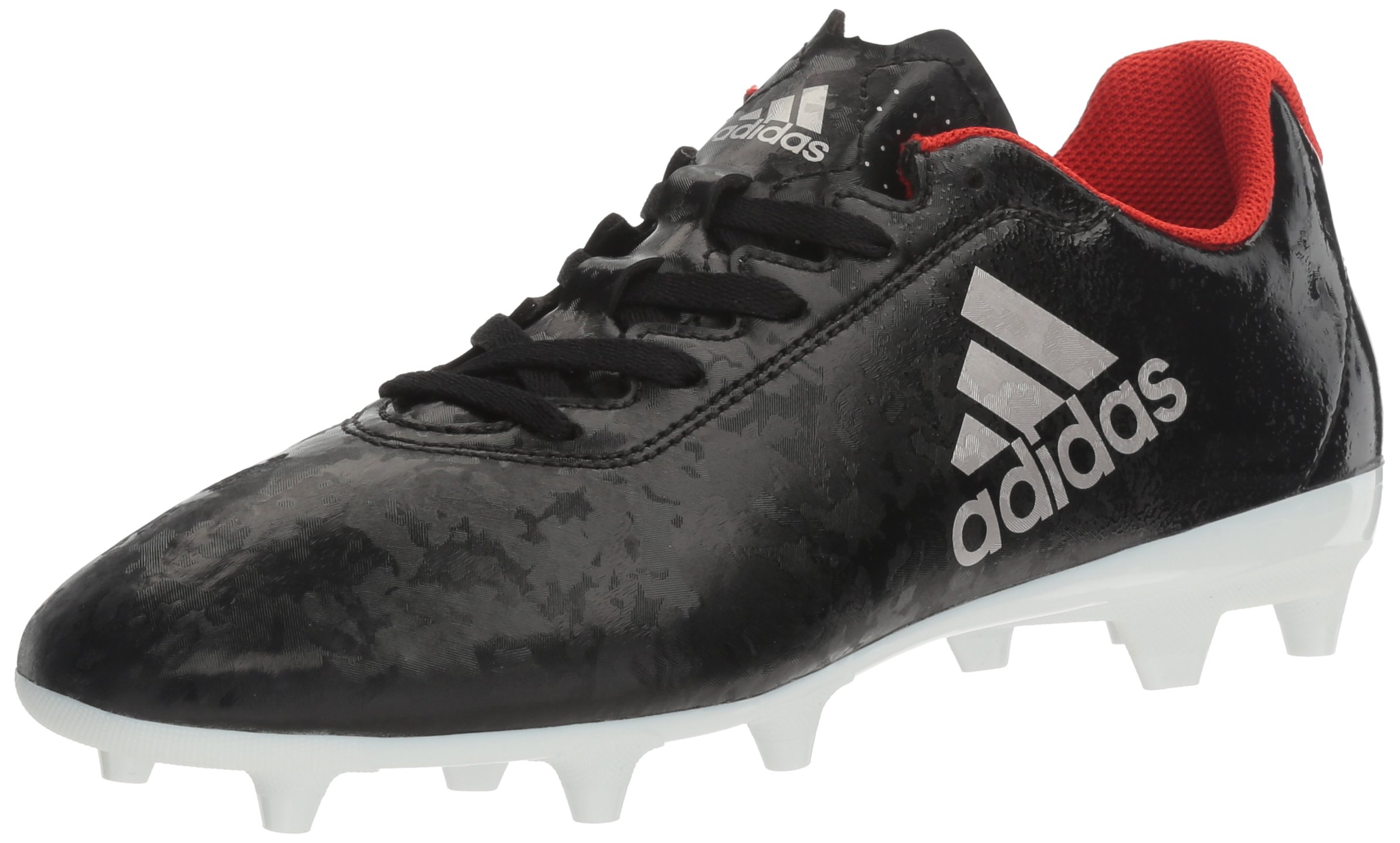 adidas Women's X 17.4 FG W Soccer Shoe, Black/Platino Core Red S, 6 M US