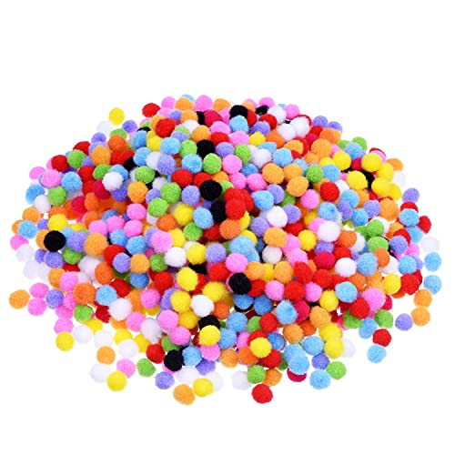 2000 Pieces 8 mm Pom Poms for Hobby Supplies and DIY Creative Crafts Decorations, Assorted Colors