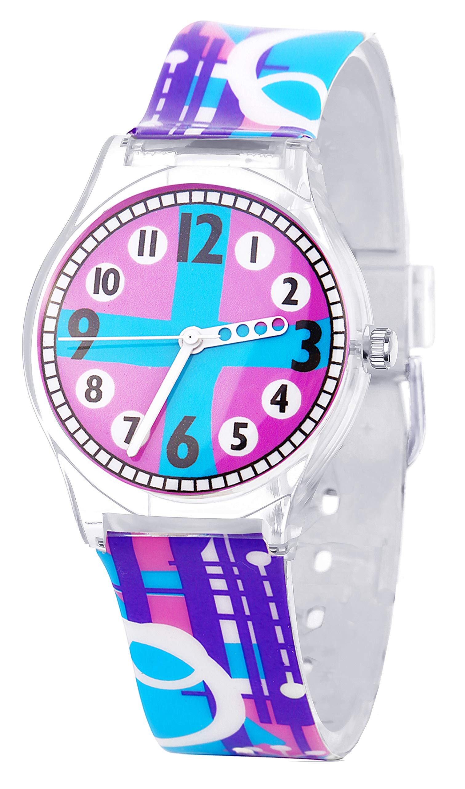 Tonnier Watches Resin Super Soft Band Student Watches for Teenagers Young Girls Starry (Purple Dream)/ Youth Watch by Tonnier