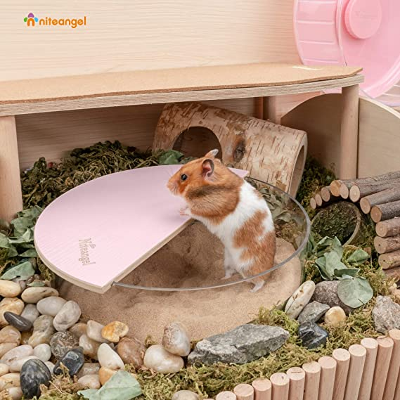 Acrylic Critters Sand Bath Shower Room /& Digging Sand Container for Hamsters Mice Lemming Gerbils or Other Small Pets Niteangel Small Animal Sand-Bath Box