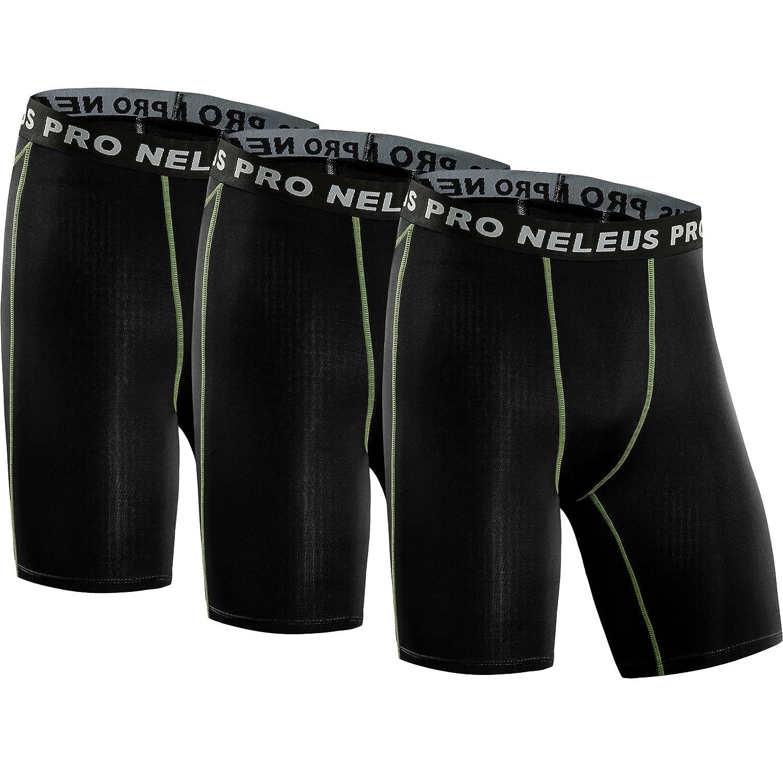e57334d74e7d Amazon.com: Neleus Men's 3 Pack Compression Short: Clothing