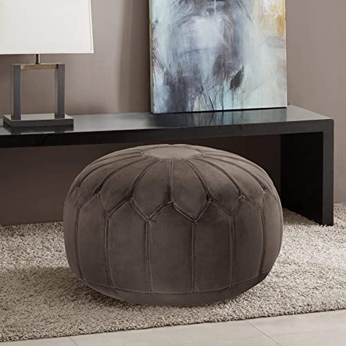 Madison Park Kelsey Round Floor Pillow Pouf Large-Soft Fabric