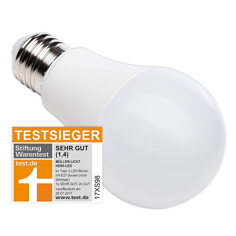 MÜLLER-LICHT 400251 A+, HD95-LED Lampe Birnenform Ersetzt 60 W ...