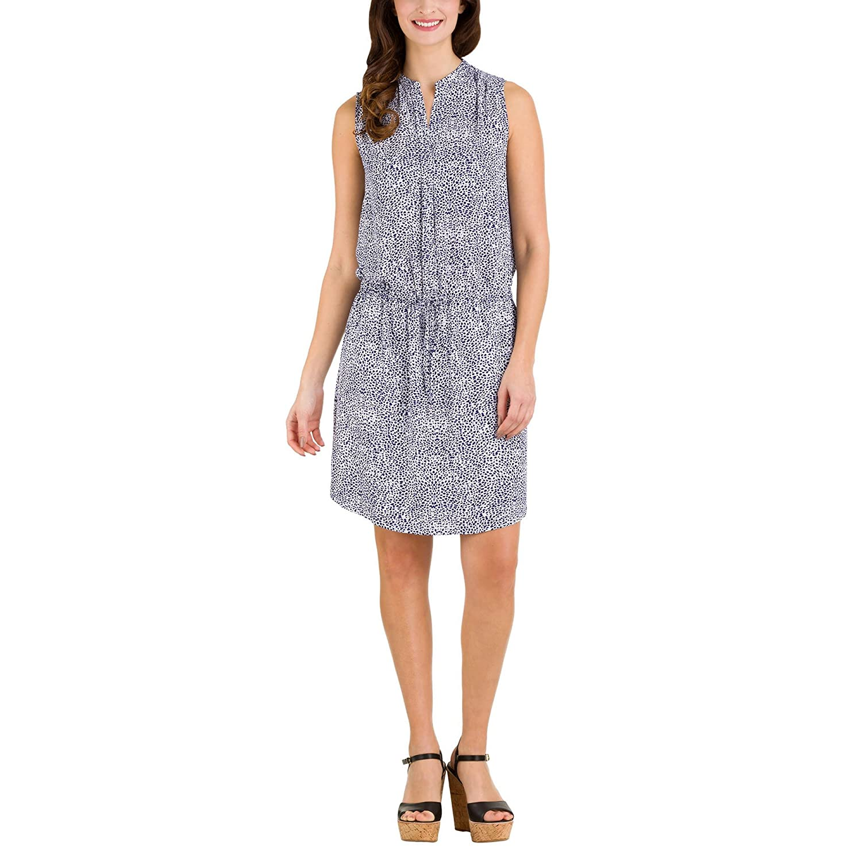 29819f0f2887ff Hilary Radley Women s Sleeveless Layered Sheer Tunic Dress at Amazon  Women s Clothing store