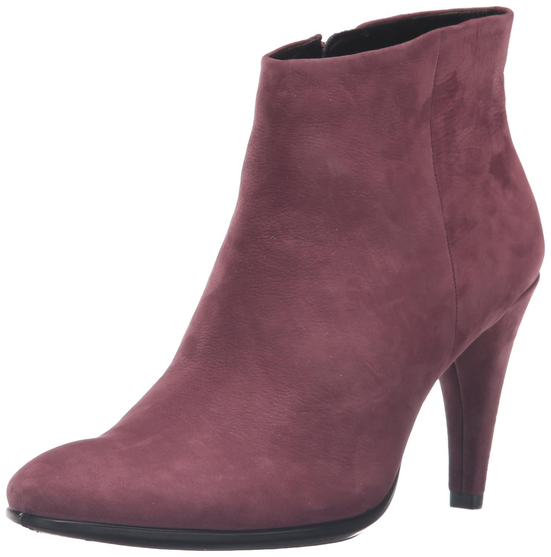 Ecco Damen Shape 75 Sleek Kurzschaft Stiefel Rot (Bordeaux2070)