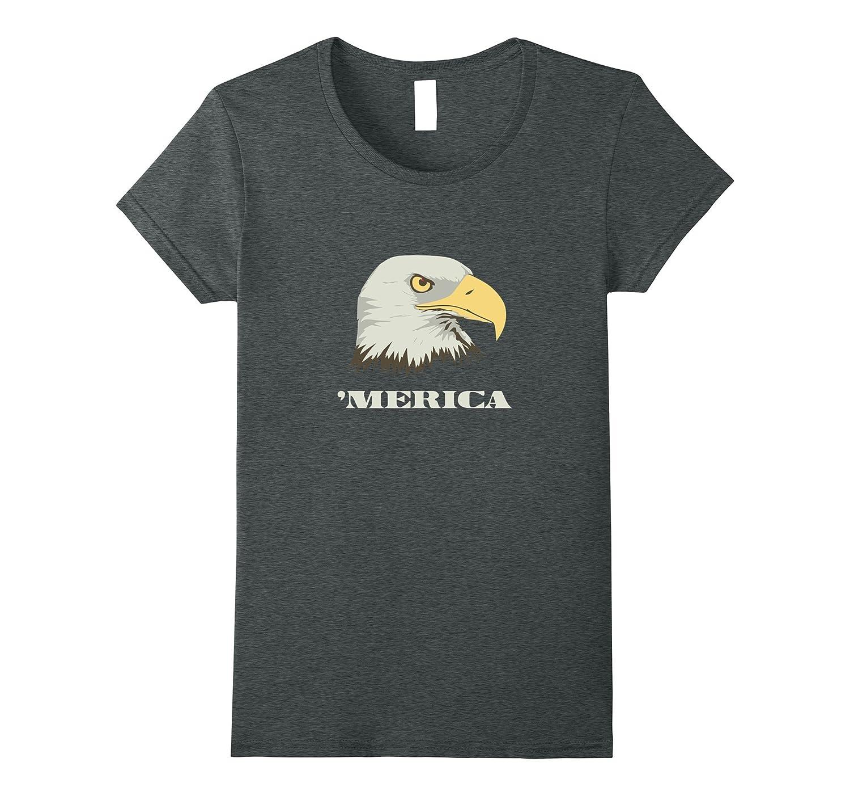 American Bald Eagle For Merica Memorial Day T Shirt