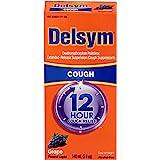 Delsym Adult Cough Suppressant Liquid, Grape Flavor, 5 oz