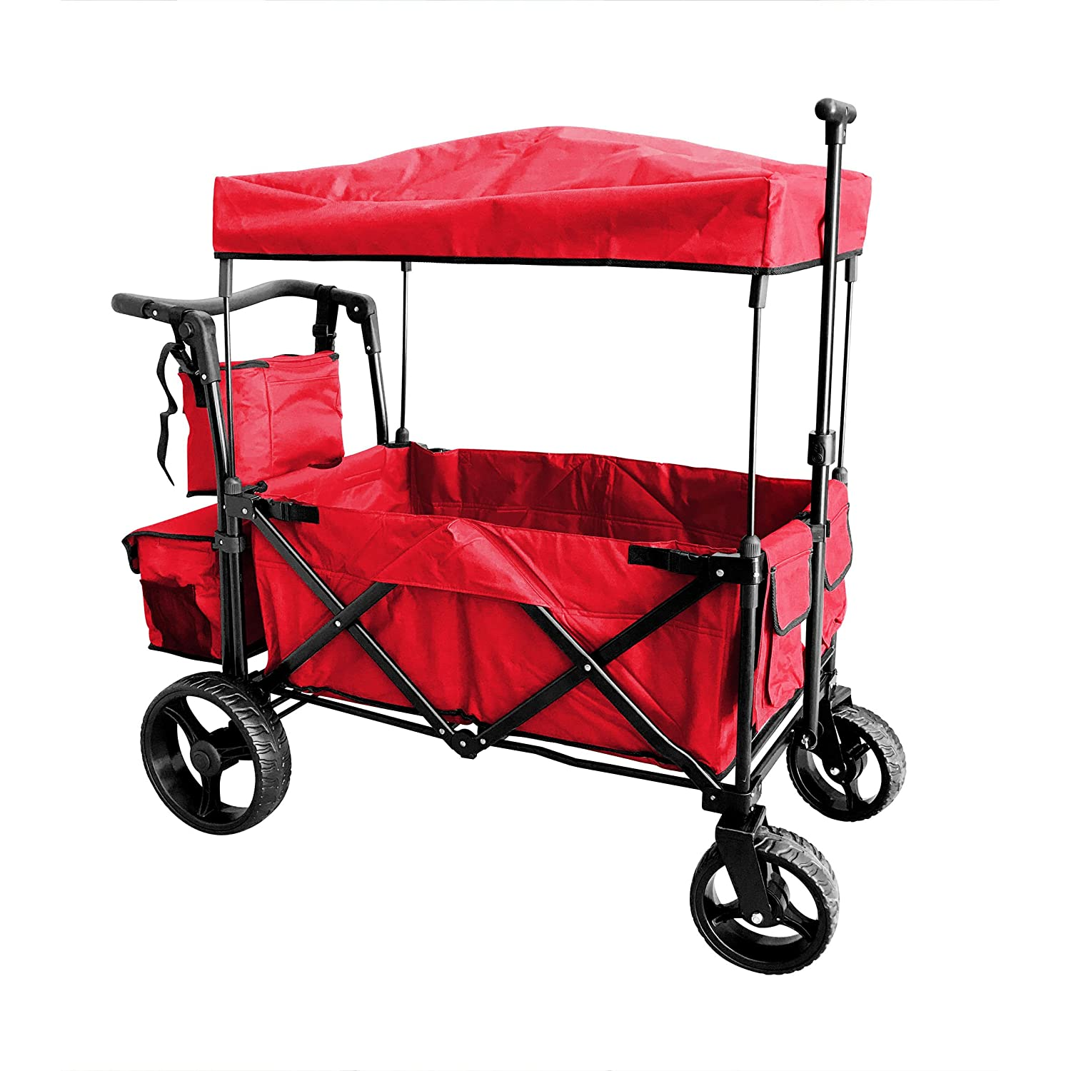 Off Road Wagon >> Amazon Com Red Push And Pull Handle With Wide Off Road All