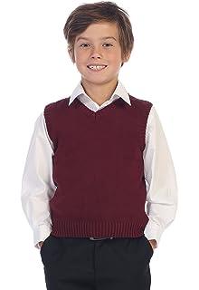 b27508f1e1e3c Amazon.com  Gioberti Boy s V-Neck Cable Knit Sweater Vest  Clothing