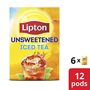 Lipton Iced Black Tea K-Cup for a delicious refreshment Unsweetened 0 Calories 12 count