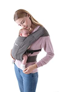 Ergobaby Embrace Baby Wrap Carrier, Infant Carrier for Newborns 7-25 Pounds, Heather Grey