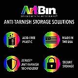 ArtBin Zerust Anti-Tarnish Large 4 Compartment Box, 12 Dividers