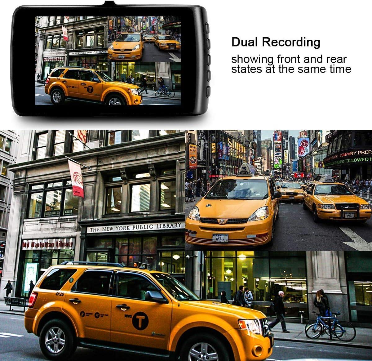 Dash Cam Wide-Angle Car Video Recorder with 3.7 LCD inch Display Video G-Sensor Loop Recording Car Camera Dashboard Camera Recorder Car DVR 1080P HD Night Vision Black