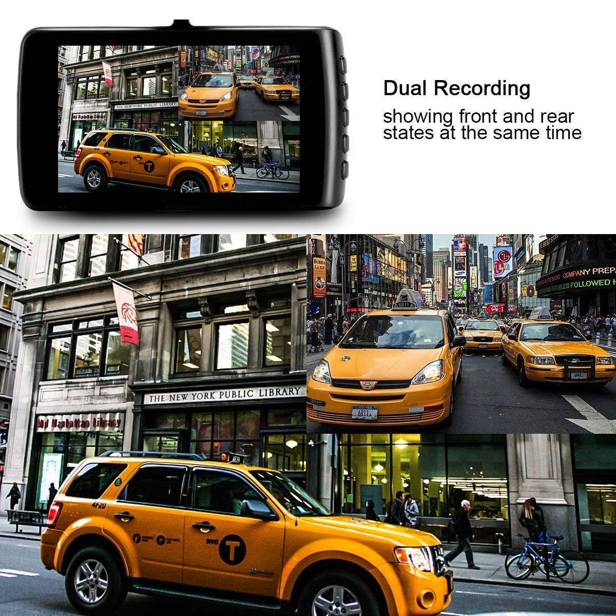 Car Camera Dashboard Camera Recorder Car DVR 1080P HD Night Vision Wide-Angle Car Video Recorder with 3.7 LCD inch Display Video G-Sensor Loop Recording Black Dash Cam