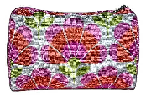 Clinique diseño de flores de color rosa y naranja blanco y ...