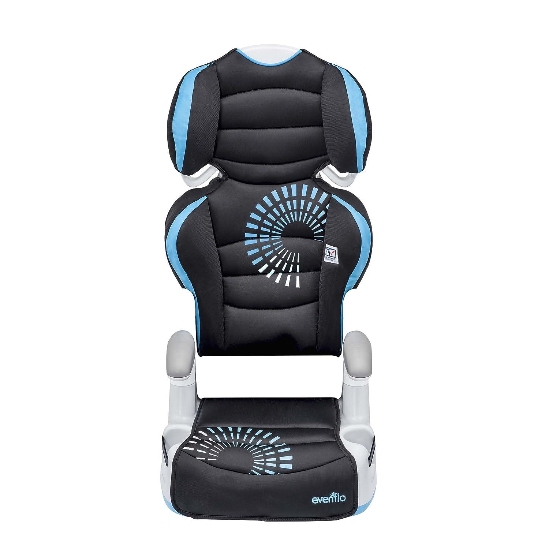 Evenflo Big Kid AMP High Back Booster Car Seat Static Black